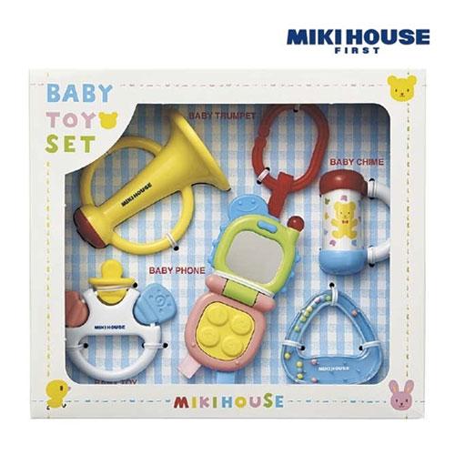ミキハウスのベビー用おもちゃセット