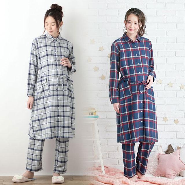 シックなビエラチェックが大人お洒落なパジャマ