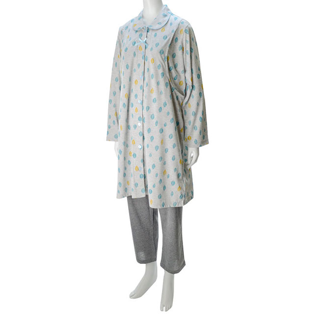 赤ちゃん本舗の葉っぱ柄マタニティパジャマ 北欧風デザインが可愛い