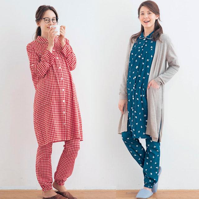 おどろきのカラー&柄展開!12種類から選べるマタニティパジャマ(3Lまで大きいサイズあり)