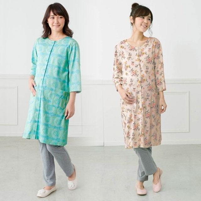 7種類の色・柄が選べる、綿100%のマタニティパジャマ