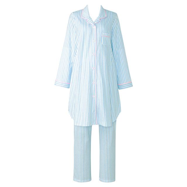 1枚でも着れるロング丈のシャツスタイルマタニティパジャマ