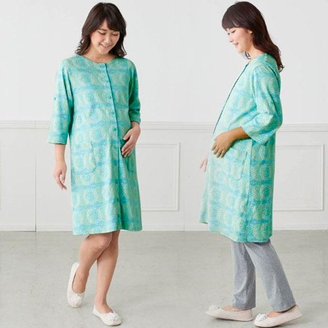 ベルメゾンの7カラーから選べるマタニティパジャマ!(七分袖)