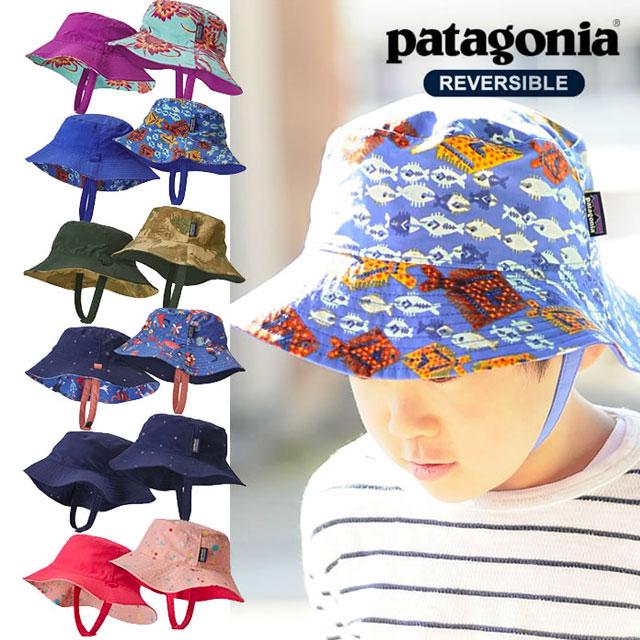 リバーシブル加工でオシャレ度もアップ、Patagoniaキッズ帽子